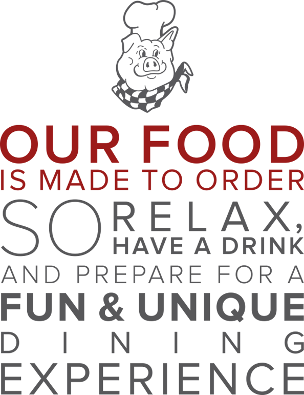 Dine In | Carry Out | Full Service Catering. Our food is made to order so relax, have a drink and prepare for a fun & unique dining experience.